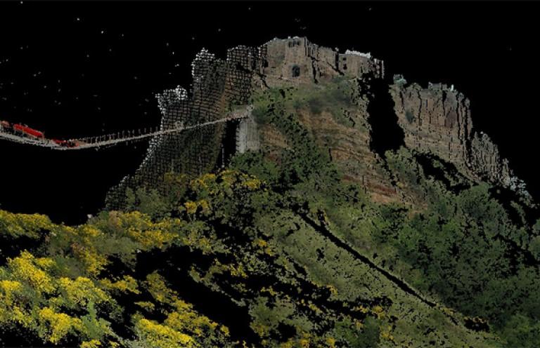 Attività di rilevo di dettaglio del versante in località Civita di Bagnoregio (VT)