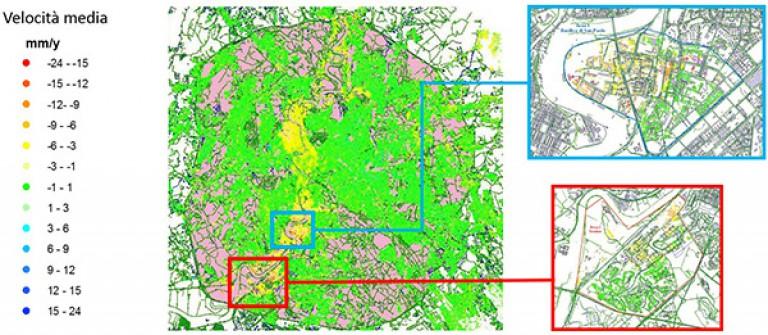 """""""Promotori Tecnologici PER l'Innovazione"""" – Utilizzo di metodologie innovative di monitoraggio geomatico satellitare per il controllo di edifici e strutture in ambito urbano"""